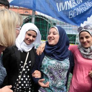 Willkommensfest für Flüchtlinge in Potsdam  Kutschstallhof am Neuen Markt - Foto: Manfred Thomas