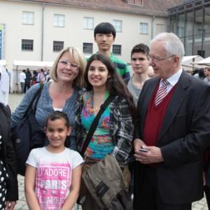 Willkommensfest für Flüchtlinge in Potsdam - Kutschstallhof am Neuen Markt - Manfred Stolpe - Foto: Manfred Thomas